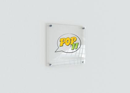 02 Sticker Plexiglass Indoor Signage Pop11 Digital Prints