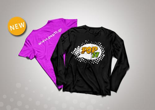 T-shirt ή φούτερ με εκτύπωση της στάμπας που εσείς επιθυμείτε.