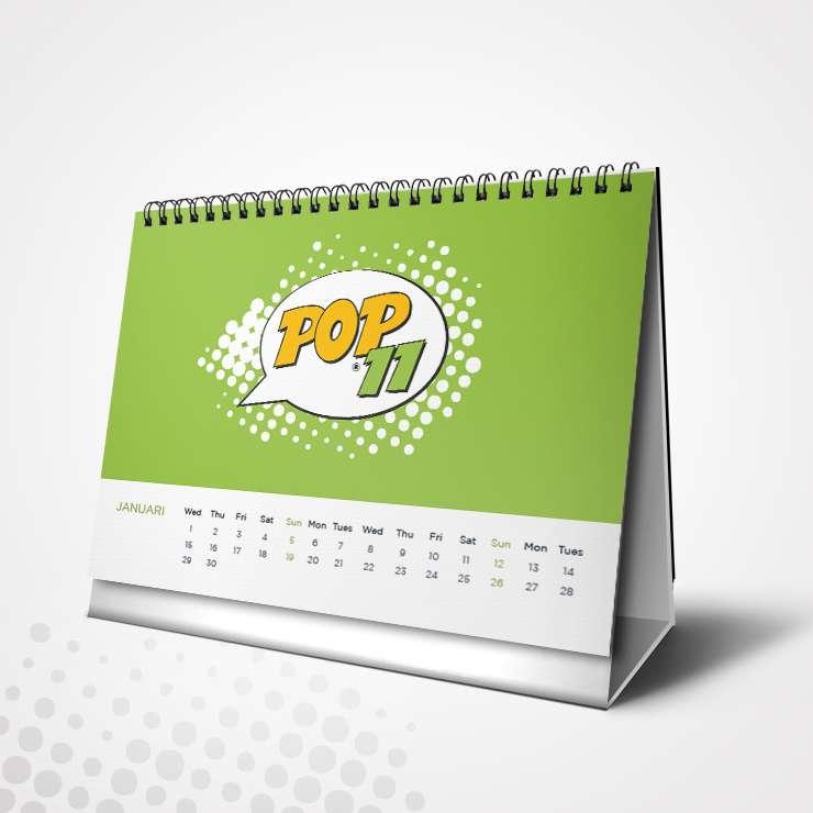 Εκτύπωση Ημερολόγιο Επιτραπέζιο με σπιράλ (13+1 ΦΥΛΛΑ)