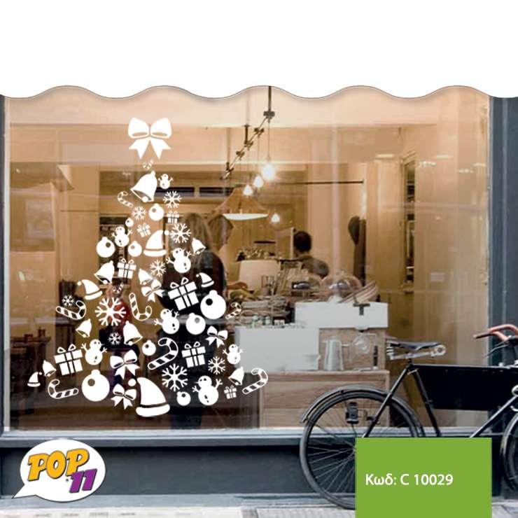 Χριστουγεννιάτικο αυτοκόλλητο βιτρίνας C10029