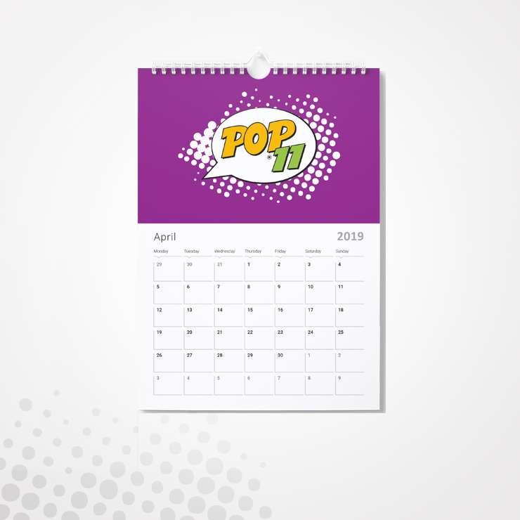Εκτύπωση Ημερολόγιo τοίχου με σπιράλ (7+1 ΦΥΛΛΑ) 2020