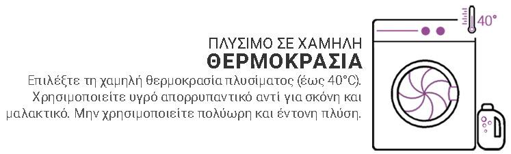ΠΛΥΣΙΜΟ ΣΕ ΧΑΜΗΛΗ ΘΕΡΜΟΚΡΑΣΙΑ